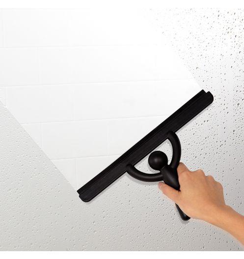 Raclette douche buddy noir accessoires salle de bain - Accessoire salle de bain noir ...