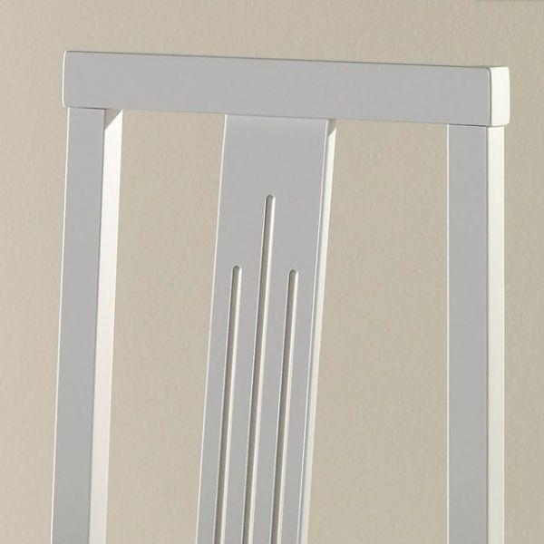 Chaise salle manger en bois blanche x4 - Chaise blanche et bois design ...