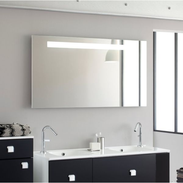 miroir salle de bain avec eclairage pas cher. Black Bedroom Furniture Sets. Home Design Ideas