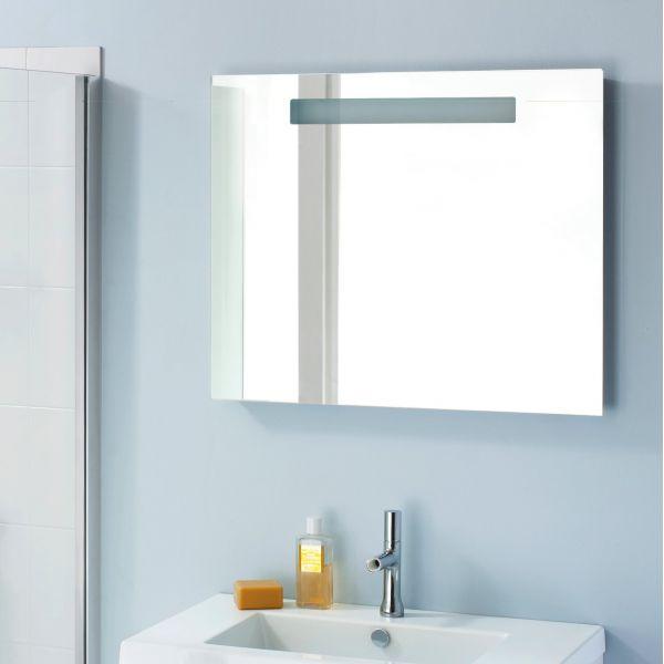 Miroir salle de bain clairage et interrupteur infrarouge - Miroir salle de bain avec eclairage ...