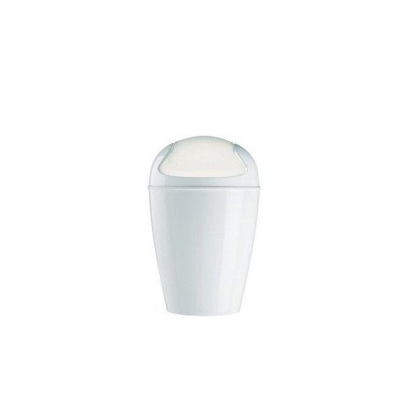 Mini poubelle blanche koziol poubelle salle de bain - Poubelle de salle de bain design ...
