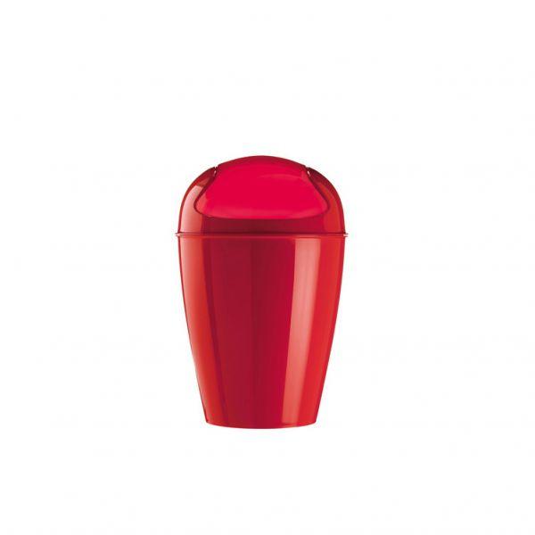 Mini poubelle rouge koziol poubelle design for Mini poubelle de salle de bain