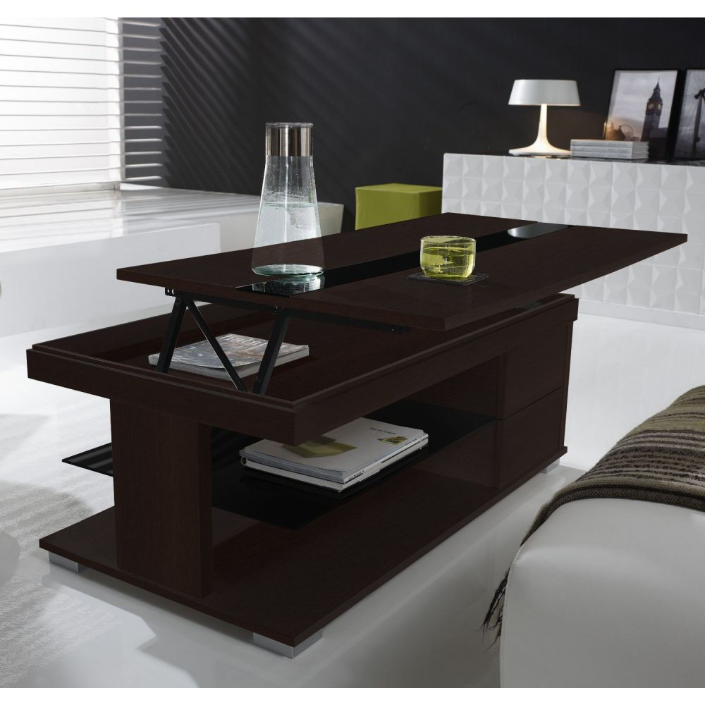 table basse relevable wenge. Black Bedroom Furniture Sets. Home Design Ideas