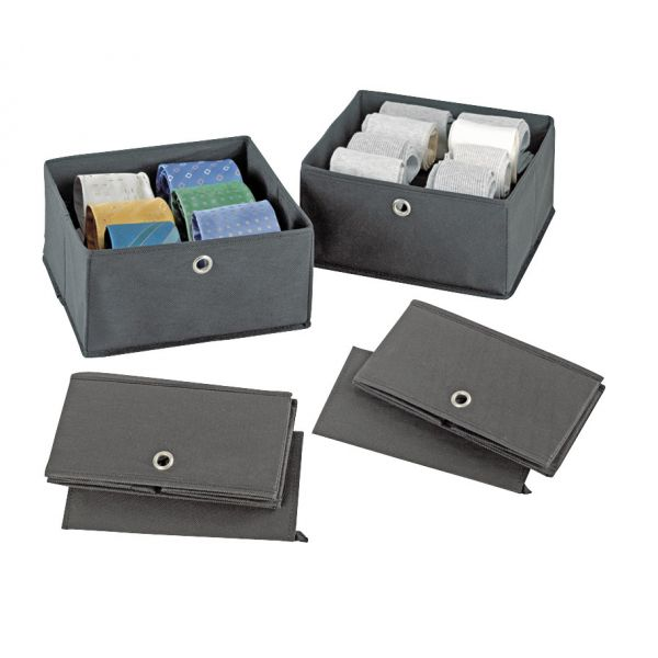 boite de rangement caravates boite rangement wenko. Black Bedroom Furniture Sets. Home Design Ideas