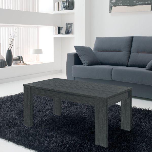 table basse relevable grise veinage bois rectangulaire. Black Bedroom Furniture Sets. Home Design Ideas