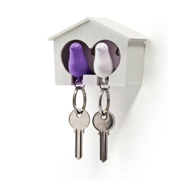 Porte cl mural violet objets d co original - Accroche cle mural design ...