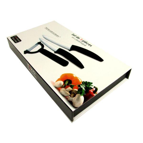 set couteaux c ramique 2 couteaux et 1 plucheur. Black Bedroom Furniture Sets. Home Design Ideas