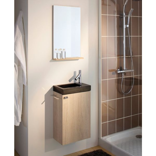 lave main pierre naturelle et miroir salle de bain sanijura sukupira. Black Bedroom Furniture Sets. Home Design Ideas