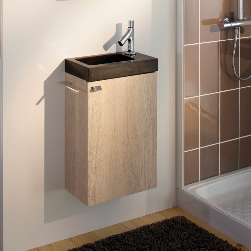 Meuble lave mains wc meuble lave main wc sur for Meuble lave main d angle wc
