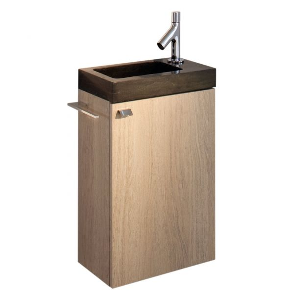 Meuble vasque lave main for Meuble lave main d angle wc