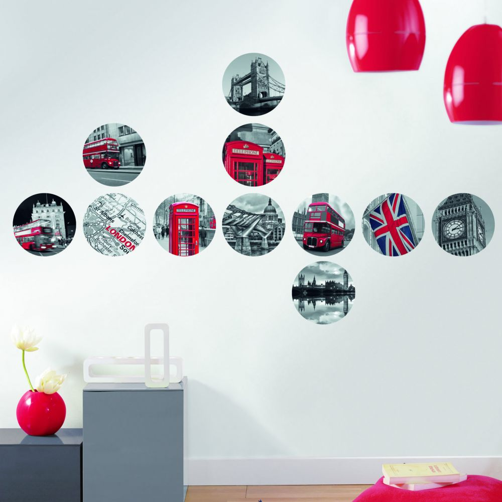 Deco london stickers for Stickers et decoration