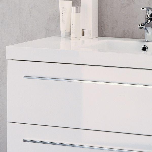 Meuble vasque salle de bain sanijura horizon laqu blanc for Horizon meuble de salle de bain 59 cm blanc