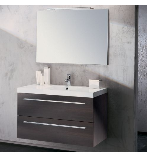 meuble vasque salle de bain sanijura horizon plaqu ch ne noir 105 cm sanijura ebay. Black Bedroom Furniture Sets. Home Design Ideas