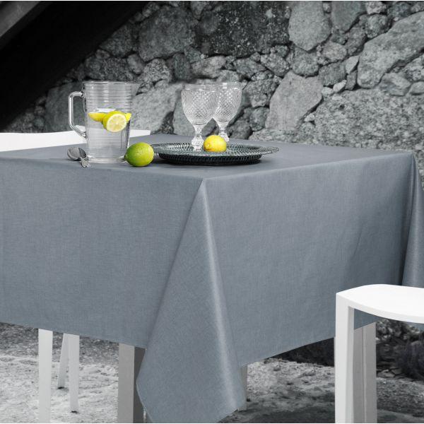 nappe enduite grise unie 150x250 cm d coration de table. Black Bedroom Furniture Sets. Home Design Ideas