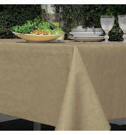 Nappe enduite taupe coton et polyester carrée 180 cm