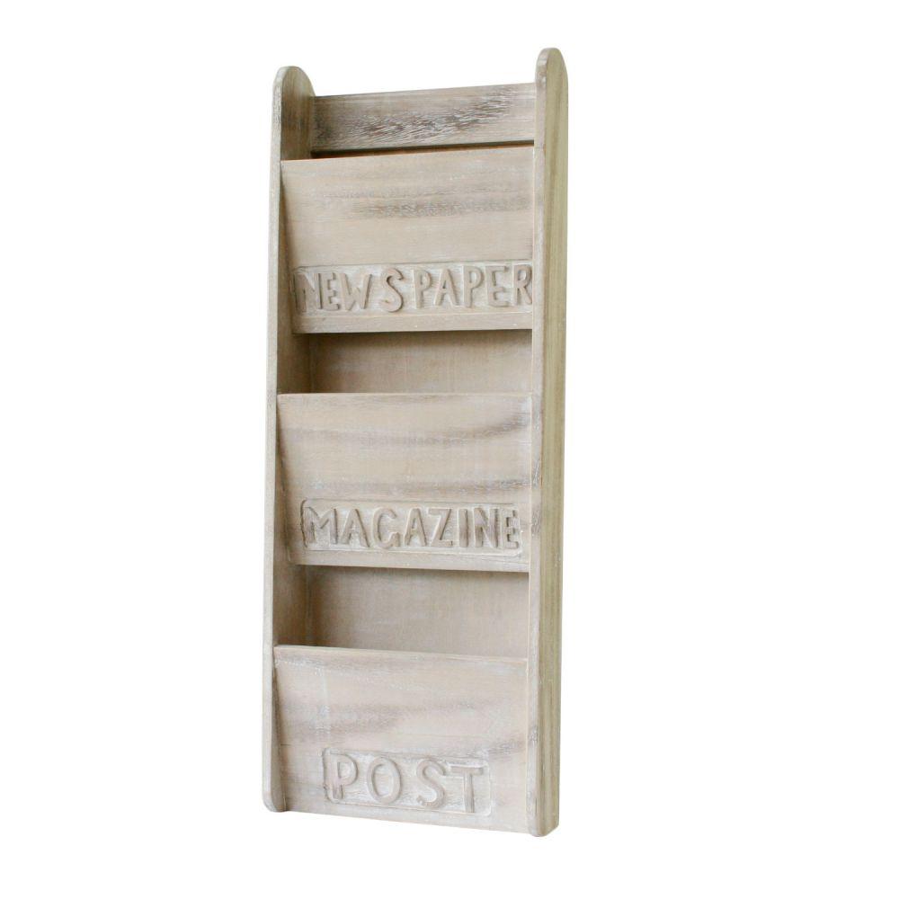 Wall Hanging Magazine Holder / Recovered Barnwood / Magazine Rack by ...