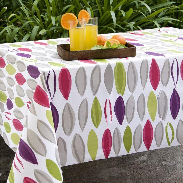 Nappe enduite color e grande nappe for Set de table coton