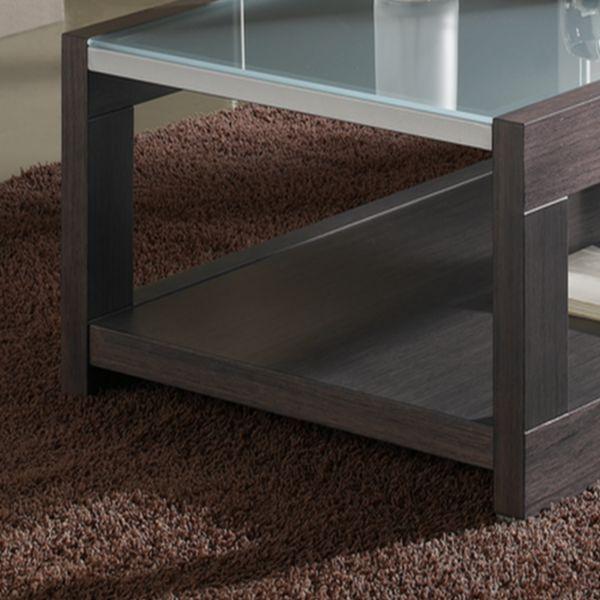 Table basse rectangulaire d co et saveurs - Table basse bois et verre dessus ...
