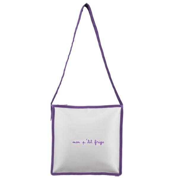 Sac isotherme repas transport repas - Gris et violet ...