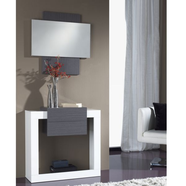 miroir d 39 entr e bois weng miroir. Black Bedroom Furniture Sets. Home Design Ideas