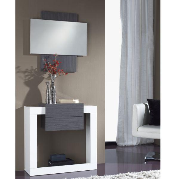 Miroir d 39 entr e bois weng miroir for Miroir pour entree