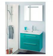Meubles design salle meuble salle de bain 80 cm for Vasque bleue salle de bain