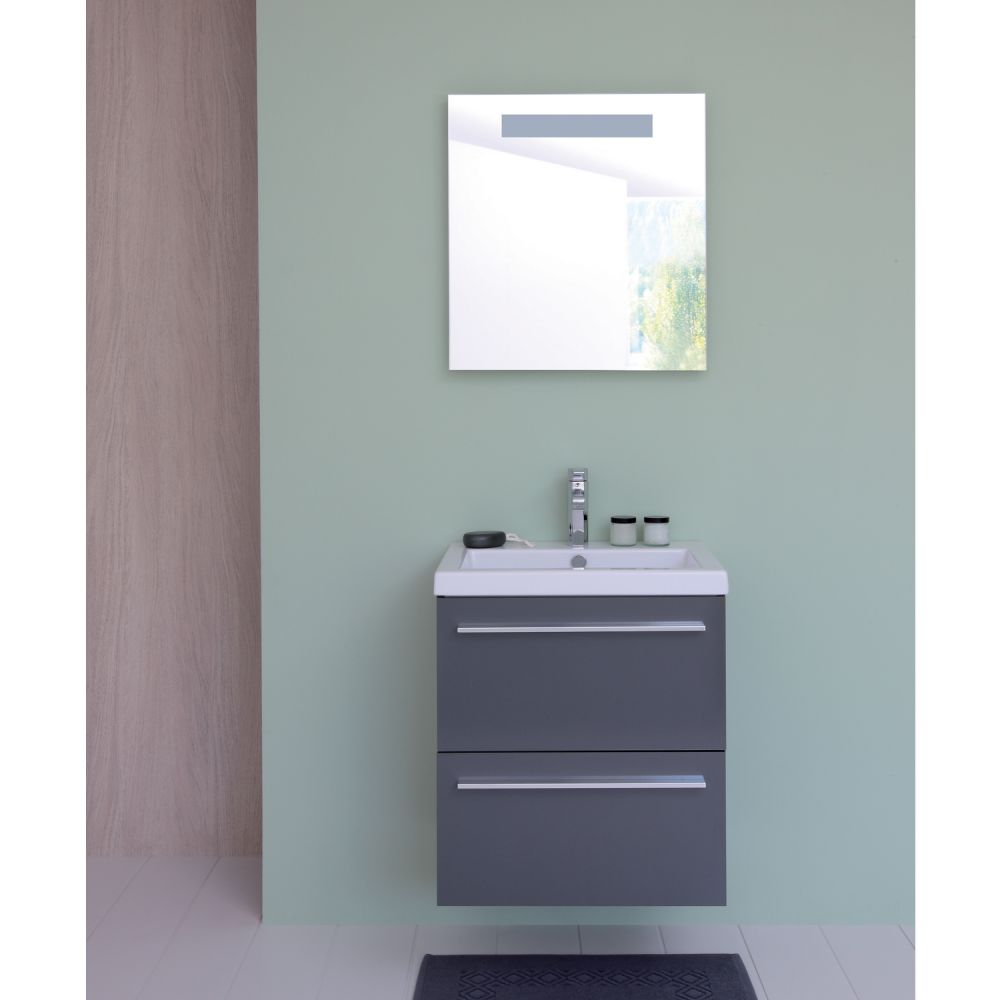 Meuble salle de bain blanc brico depot for Ensemble lavabo meuble leroy merlin