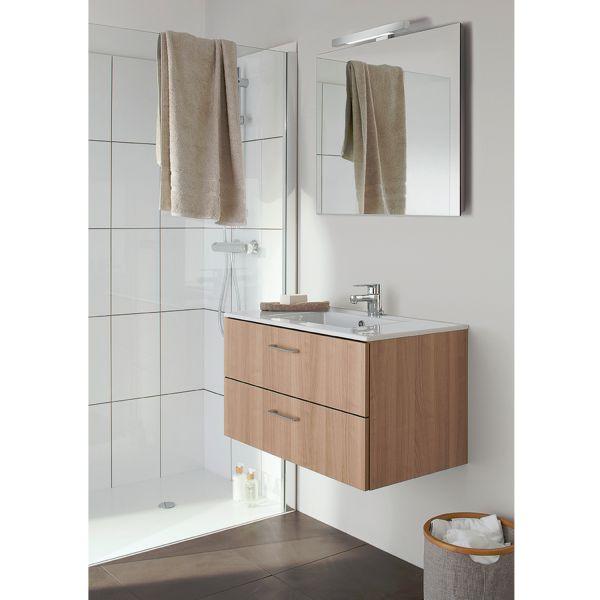 ... salle de bain • Meuble vasque salle de bain double tiroir bois