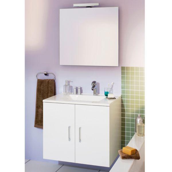 Ensemble meuble 60 cm miroir de salle de bain el gance for Miroir salle de bain chauffant