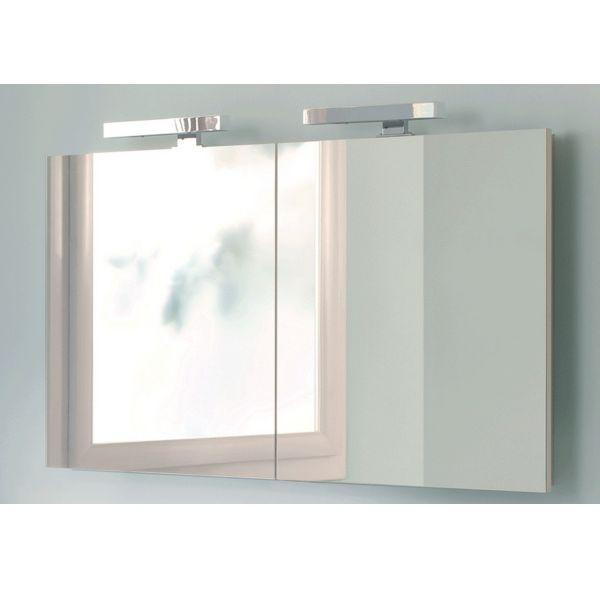 ensemble salle de bain meuble vasque gris et armoire de toilette 120cm - Armoire A Glace Salle De Bain