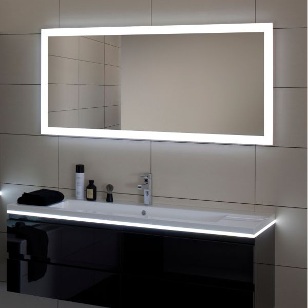 miroir salle de bain led luz sanijura 100 cm. Black Bedroom Furniture Sets. Home Design Ideas