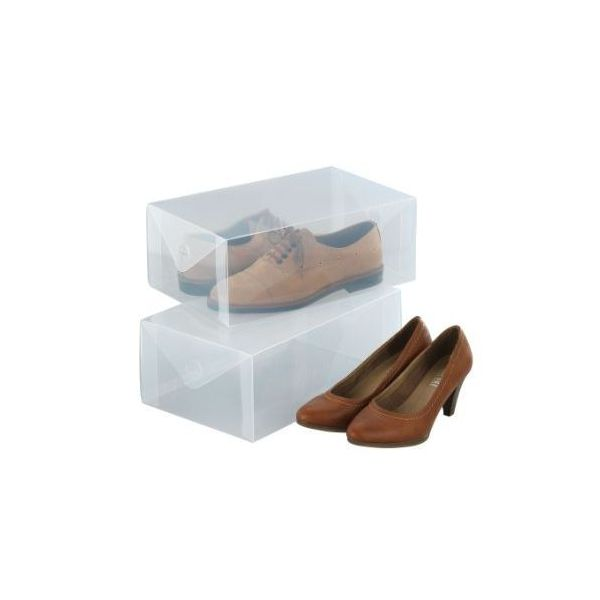 Des bo tes de rangement gain de place photo brabantia for Rangement chaussures gain de place