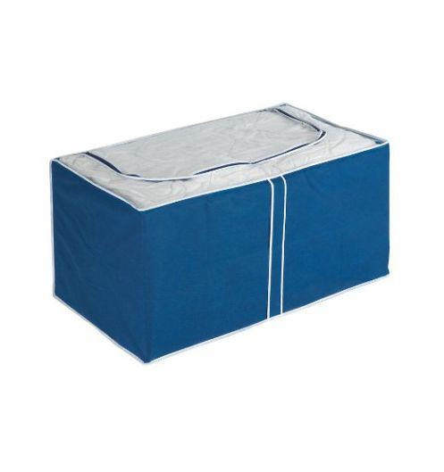 Housse de rangement bleue panier de rangement tissu for Boite de rangement deco