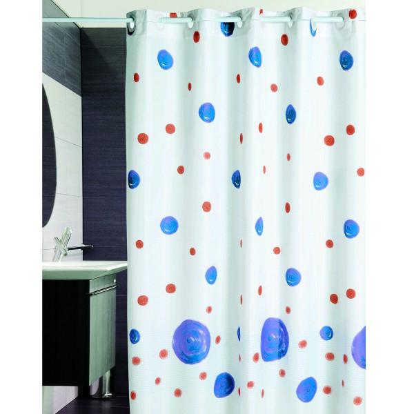 rideau de douche rideau de douche pois bleu. Black Bedroom Furniture Sets. Home Design Ideas