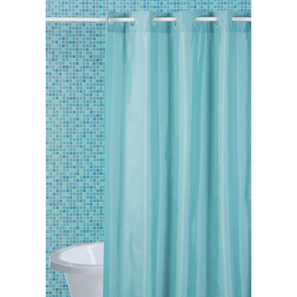 rideau douche bleu turquoise salle de bain originale. Black Bedroom Furniture Sets. Home Design Ideas