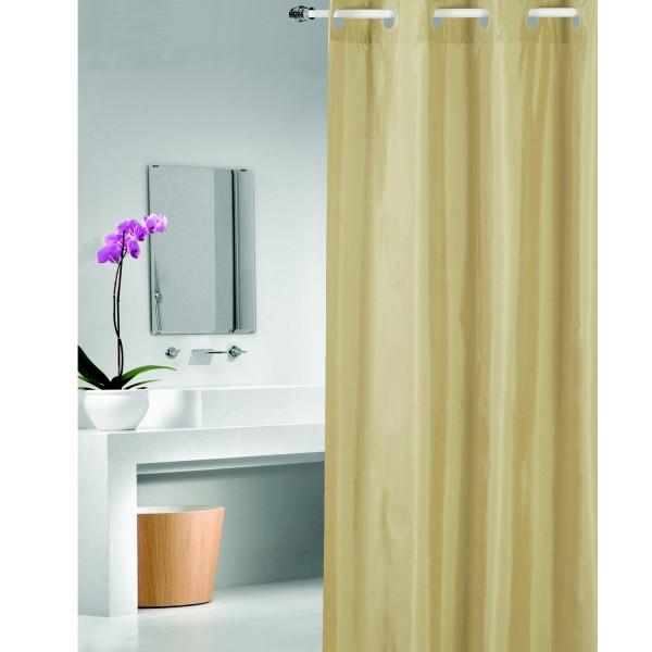 Rideau salle de bain taupe rideau salle de bain chic for Rideau de douche moderne