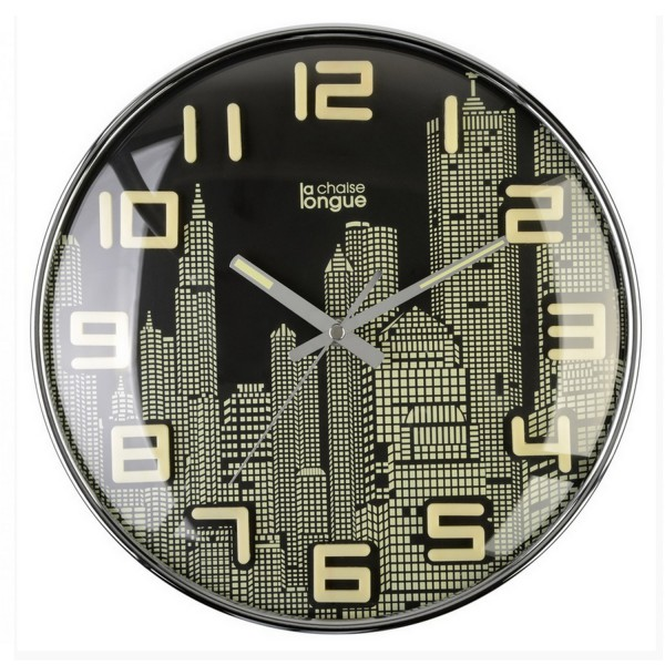 horloge murale building d coration new york. Black Bedroom Furniture Sets. Home Design Ideas
