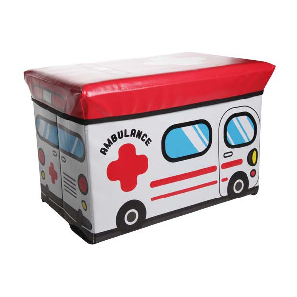 coffre pouf enfant ambulance cosy trendy. Black Bedroom Furniture Sets. Home Design Ideas