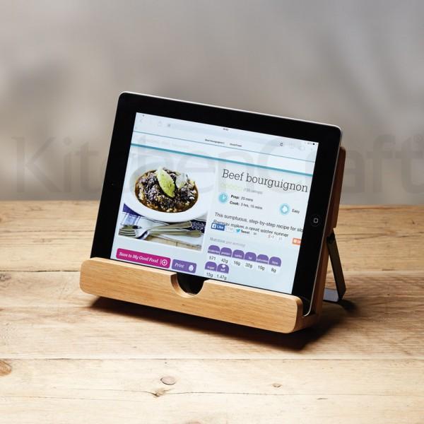Lutrin de cuisine en bois - Tablette tactile cuisine ...