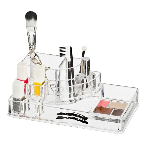 Rangement maquillage acrylique rangement make up wenko - Rangement maquillage en acrylique ...