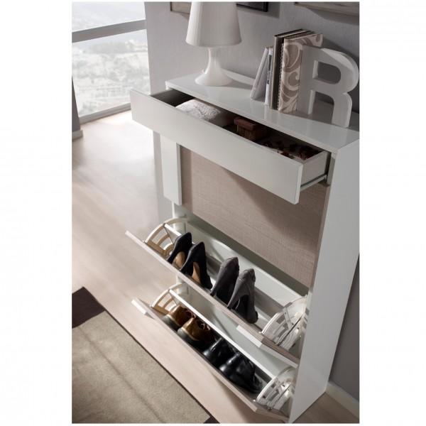 meuble chaussures beige et bois agglom r concept ForCommande Meubles Concept
