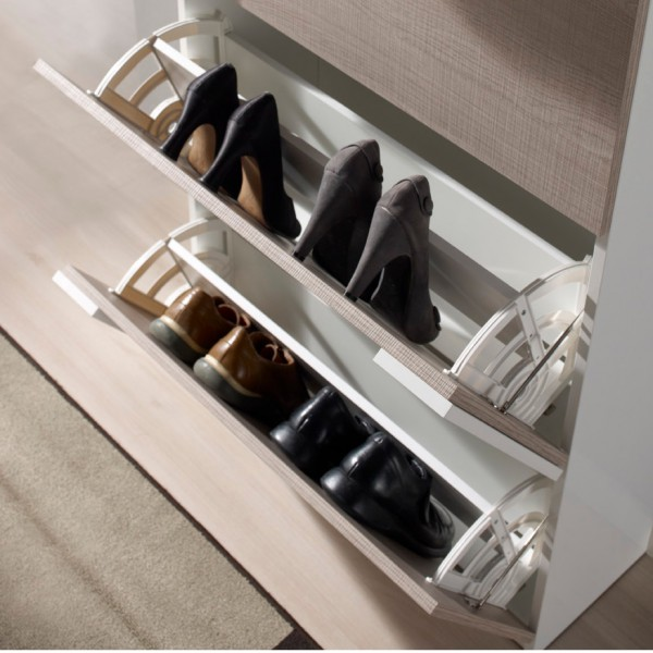 meuble chaussures placage ch ne concept. Black Bedroom Furniture Sets. Home Design Ideas