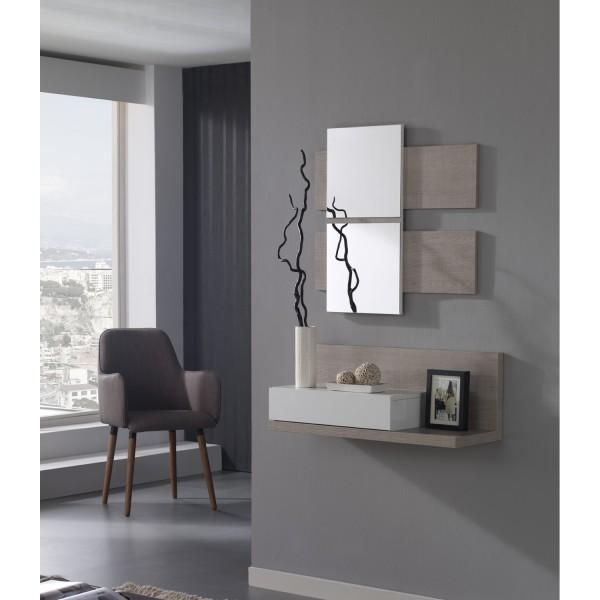 Meuble d 39 entr e et miroirs tiroir concept for Meuble console d entree