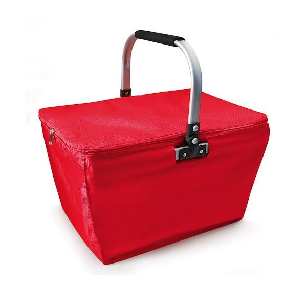 panier isotherme pique nique rouge panier course pliable. Black Bedroom Furniture Sets. Home Design Ideas