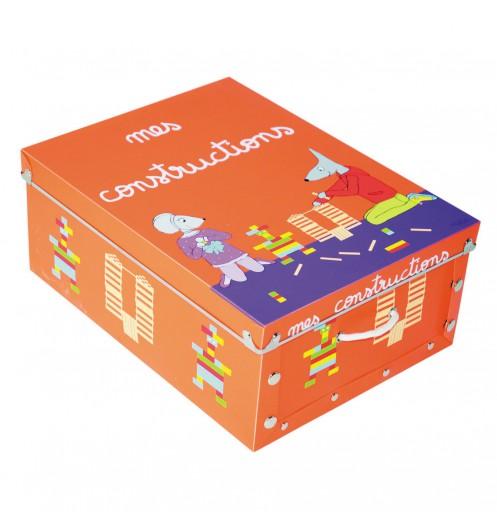 boite rangement jeux de constructions rangement chambre enfant. Black Bedroom Furniture Sets. Home Design Ideas