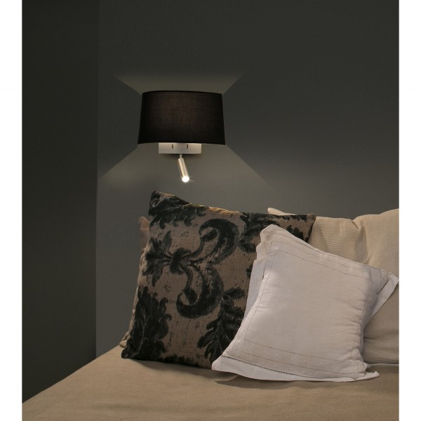 applique murale noire design liseuse led diff rents. Black Bedroom Furniture Sets. Home Design Ideas