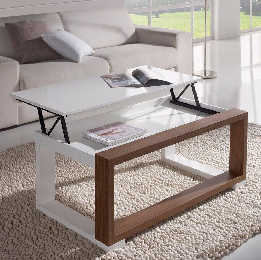 La table basse relevable r volutionne le salon d co et - Table salon originale ...