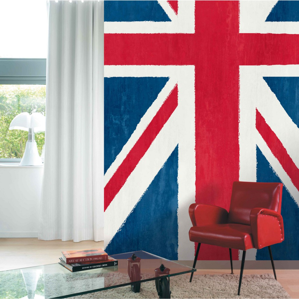 D co chambre ado london union jack bois bassdona for Poster xxl chambre