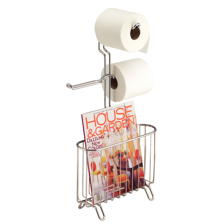 Porte papier toilette revue classico m tal interdesign for Range papier toilette