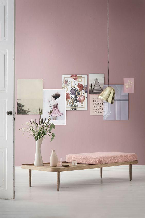 Une d co rose sans en faire trop d co et saveurs for Peinture carrelage rose